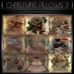 A~OFFER-CHRISTMAS PILLOWS 1&2-60 TEXTURES