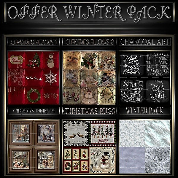 A~OFFER WINTER PACK-200 TEXTURES