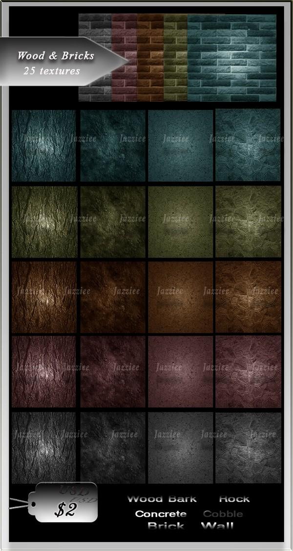 Wood&Bricks-25 Textures
