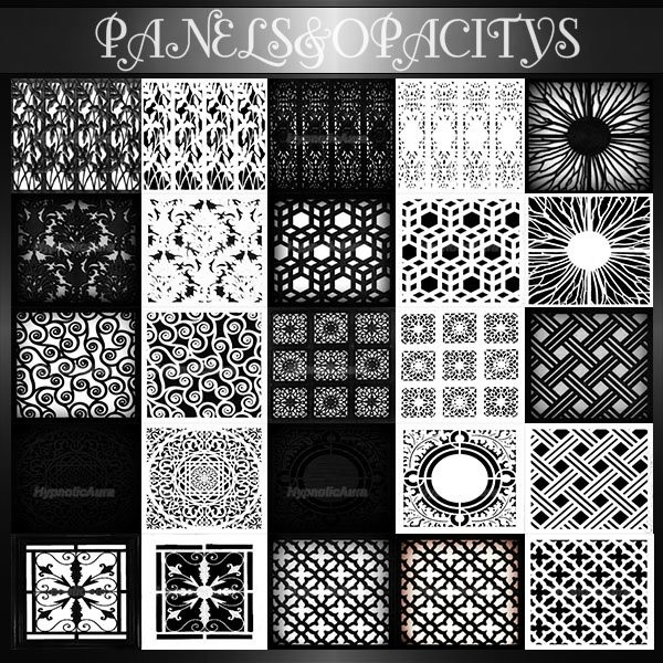 A~PANELS&OPACITIES-36 TEXTURES
