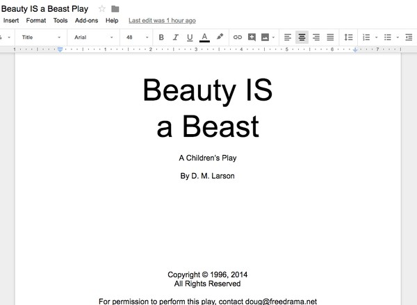 Word document version of Beauty IS a Beast