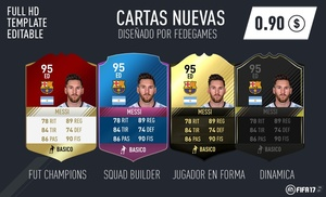 NEW CARDS OF FIFA 17 - FULL EDITABLE - TEMPLATE