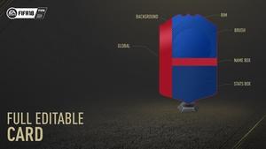 FIFA 18 FULLY EDITABLE CARD - TEMPLATE - F3DZN
