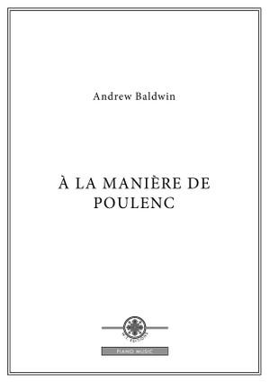 À la Manière de Poulenc