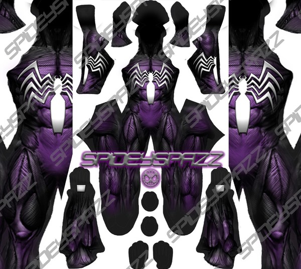Purple Symbiote 2 Spider-Man