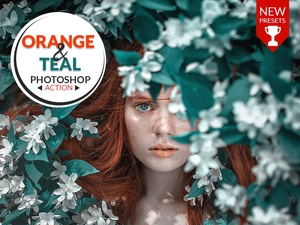 ORANGE AND TEAL  - PHOTOSHOP ACTION!