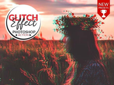 AMAZING GLITCH EFFECT (Anaglyph) - PHOTOSHOP ACTION!