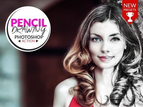 PENCIL DRAWING - PHOTOSHOP ACTION!