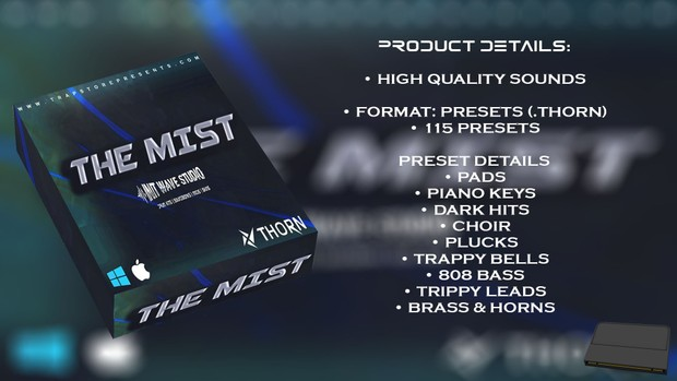 INIT WAVE STUDIO - THE MIST EXPANSION (FOR THORN VST)
