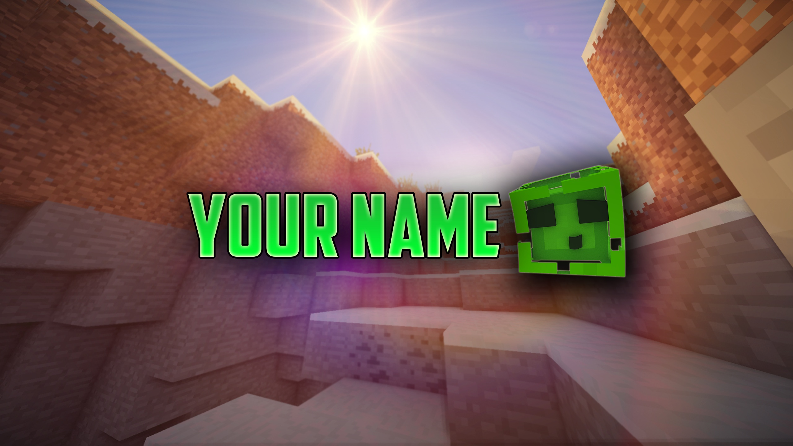 Minecraft Slime Channel Art!(Photoshop Need!)