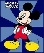Mickey with Blue Background