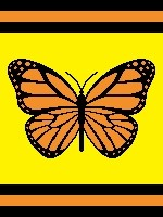 Monarch Butterfly (color blocks)