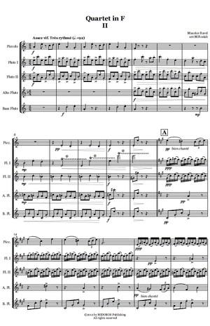 M. Ravel (arr. M. Rosiak) - Quartet in F - Asses Vif - for flute ensemble
