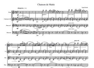 E. Elgar (arr. M. Rosiak) - Chanson de Matin for woodwind quartet