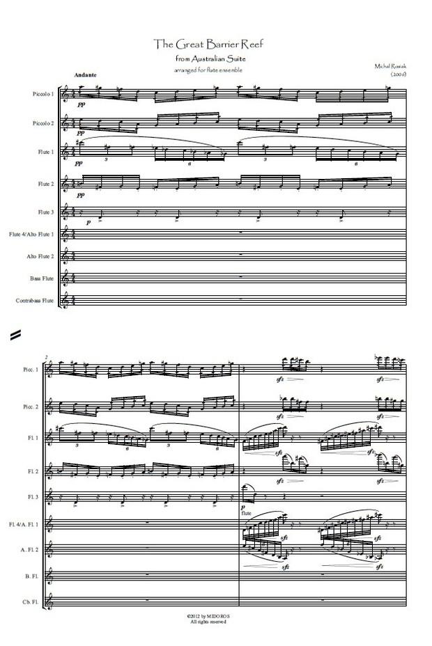 M. Rosiak - The Great Barrier Reef for flute ensemble