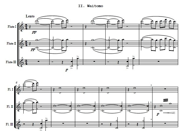 M. Rosiak - Music for three flutes (score and parts)