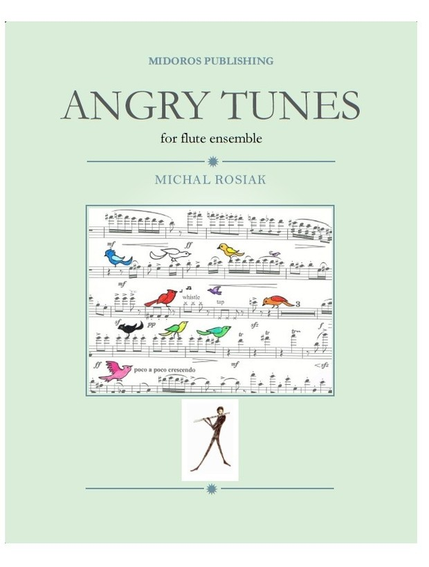 M. Rosiak - Angry Tunes for flute ensemble score and parts