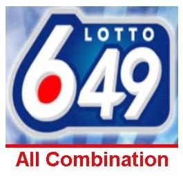Lotto 6/49 All Combination