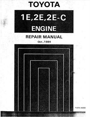 Toyota - 1E, 2E, 2E-C Repair Manual