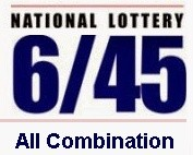 Lotto 6/45 All Combination