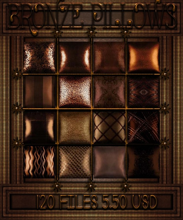 Bronze Decorative Pillows