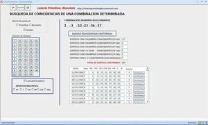 Aplicacion Eurobonlotto + Tablas en Excel, Lotería Primitiva, Bonoloto y Euromillones
