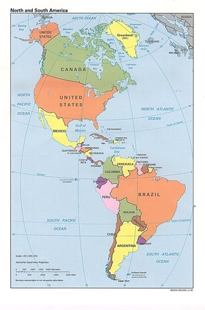 Datos Mundiales. Zona AMERICA. (EEUU NO INCLUIDO) / Global Climate Data. AMERICA (USA not included)