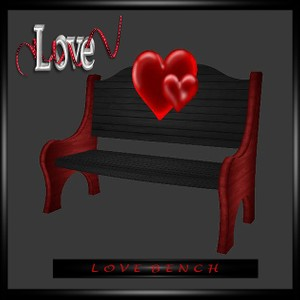 Love Bench Hearts