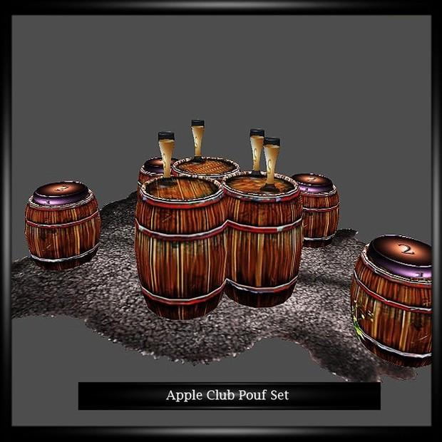 Apple Club Pouf Set