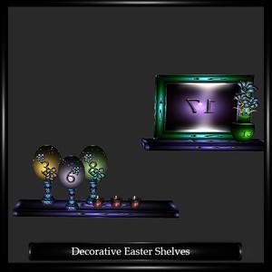 DECORATIVE EASTER SHELVES