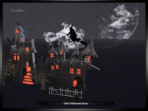 Dark Halloween Scary Room