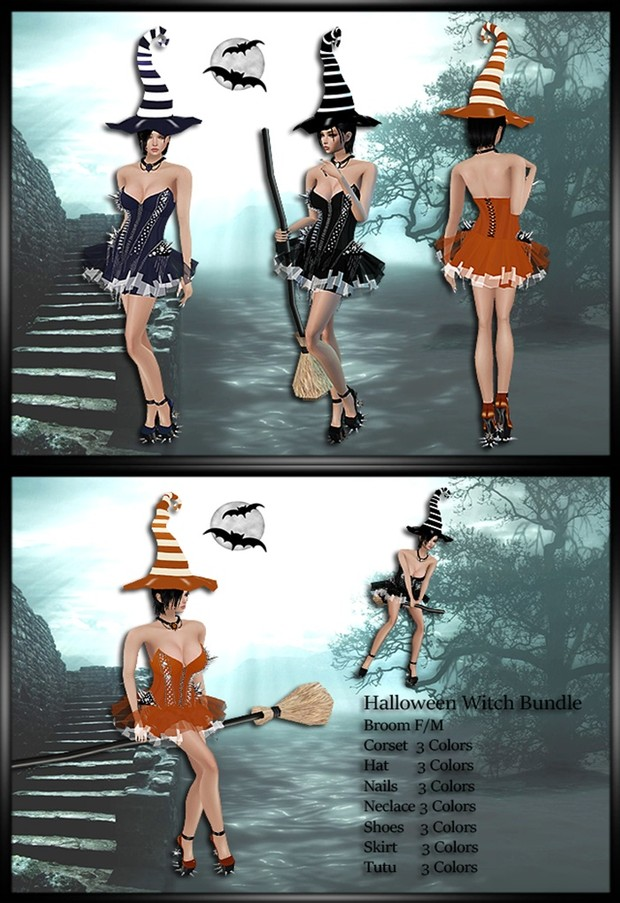 Halloween Witch Bundle 3 Colors