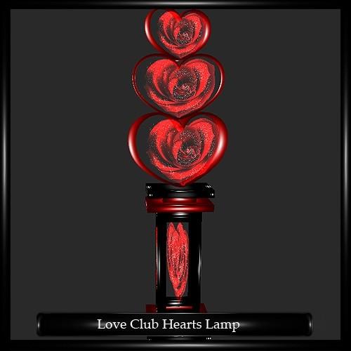 Love Club Hearts Lamp