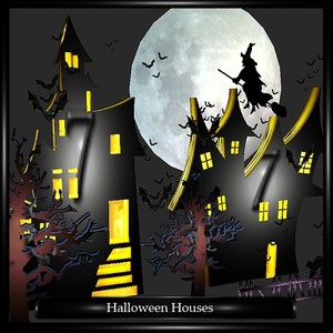 HALLOWEEN HOUSES W PARTICLES