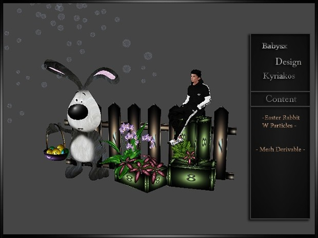 Easter Rabbit With Particles