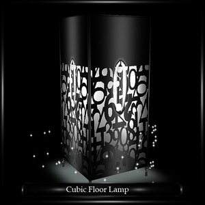 CUBIC FLOOR LAMP (WITH PARTICLES)