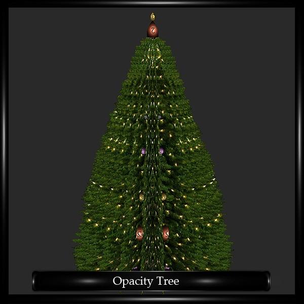 Opacity Christmas Tree