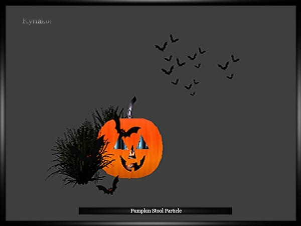 Pumpkin Stool Particle