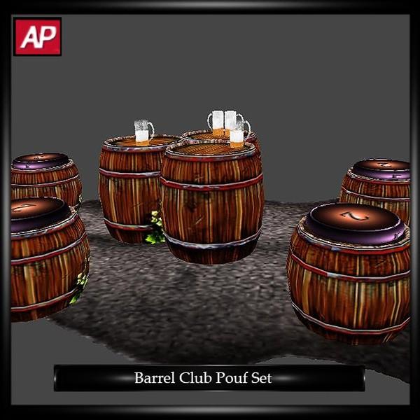 Barrel Club Pouf Set