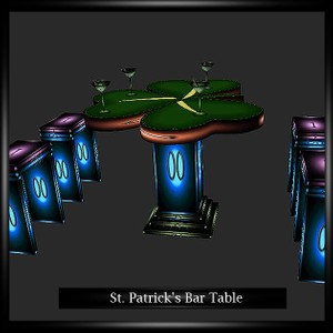 St. Patrick's Bar Table