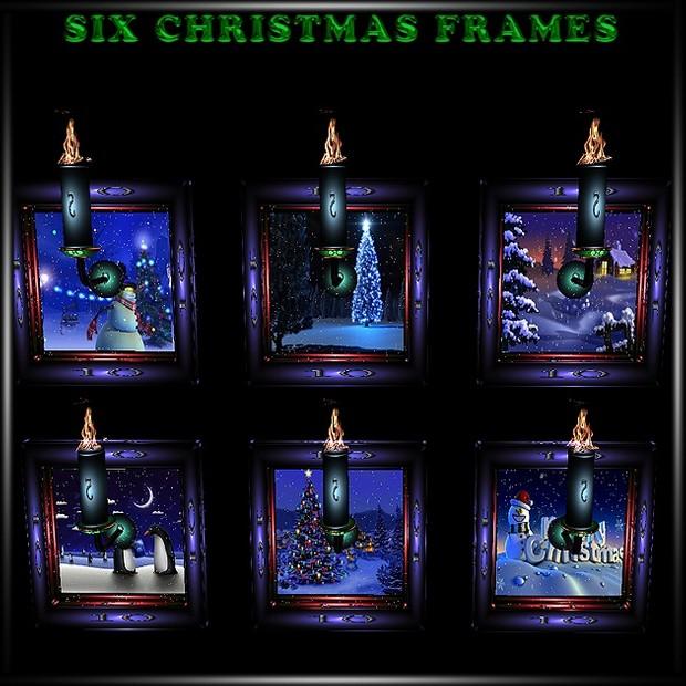 Six Christmas Frames