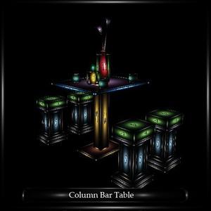 COLUMN BAR TABLE
