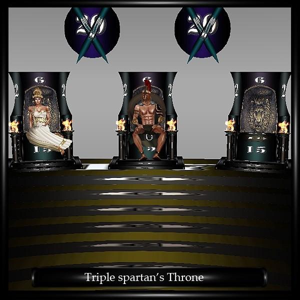 TRIPLE SPARTAN S THRONE