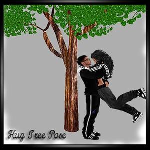 HUG TREE POSE