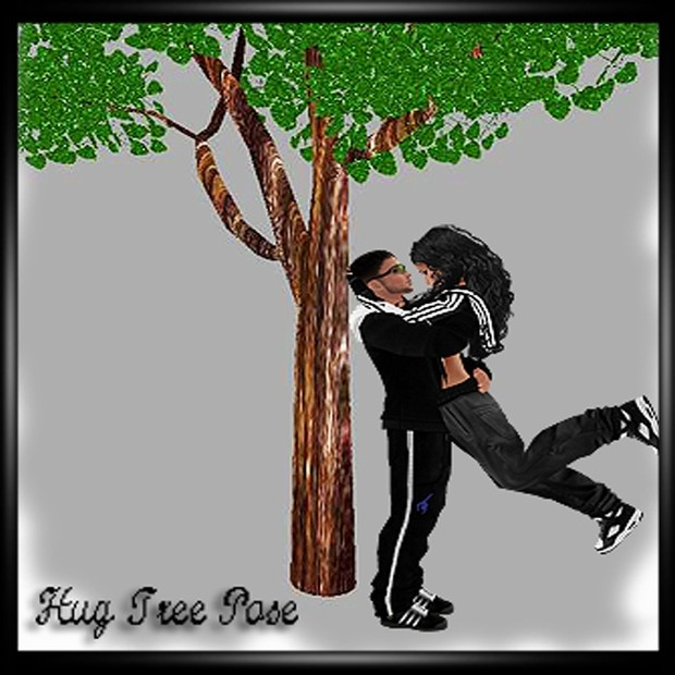 HUG TREE POSE