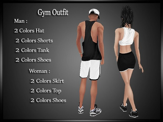 Gym Couple Outfit 2 Colors