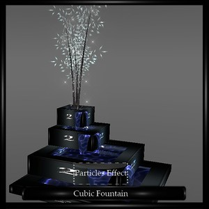 CUBIC FOUNTAIN (WITH PARTICLES)