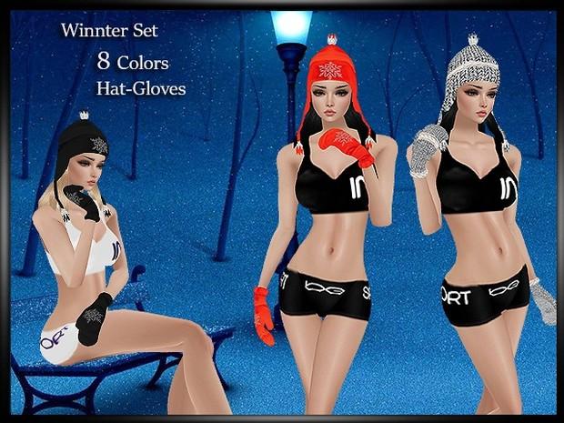 Winter Set Hat-Gloves Couple