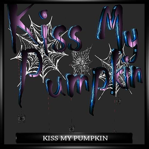 KISS MY PUMPKIN HALLOWEEN LOGO