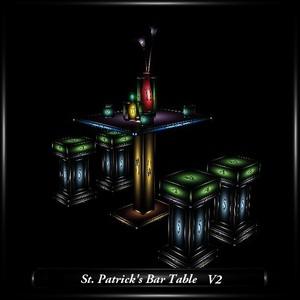 St. Patrick's Bar Table V2